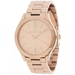 Michael Kors Rose Gold Plated Steel Runway MK3197 Women's Wristwatch 42MM