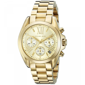 Michael Kors Champagne Yellow Gold Plated Steel Bradshaw MK5798 Women's Wristwatch 35MM
