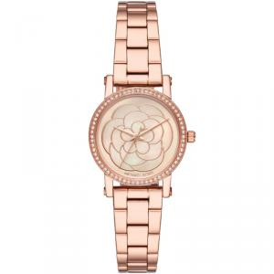 Michael Kors MOP Rose Gold Plated Steel Petite Norie MK3892 Women's Wristwatch 28MM