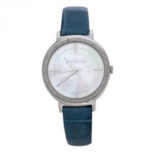 Michael Kors Mother Of Pearl Stainless Steel Leather Cinthia MK2661 Women's Wristwatch 33 mm