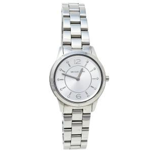 Michael Kors Silver Stainless Steel Runway MK6610 Women's Wristwatch 28 mm