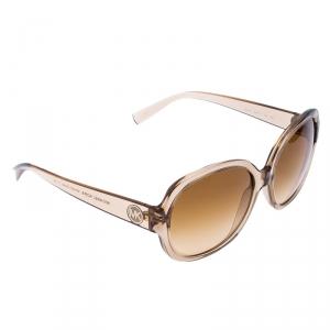 Michael Kors Beige/Brown Gradient MK 6021 Corte Oversized Square Sunglasses