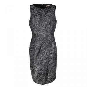 Michael Kors Grey Jacquard Sleeveless Sheath Dress L used