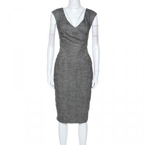 Michael Kors Black Silk Blend Sleeveless Midi Dress L used