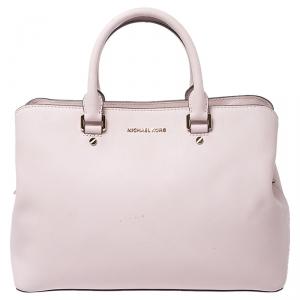 Michael Kors Pink Saffiano Leather Medium Satchel