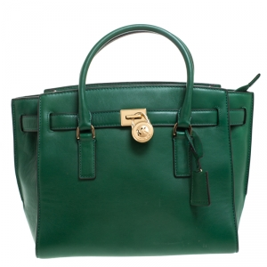 حقيبة يد مايكل مايكل كورس Hamilton جلد خضراء