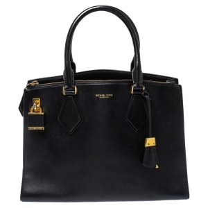 Michael Kors Collection Black Leather Large Casey Tote