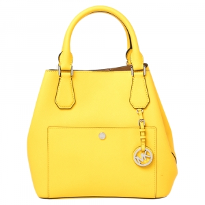 Michael Kors Yellow Saffiano Leather Greenwich Tote
