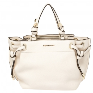Michael Kors Cream Leather Greta Shoulder Bag