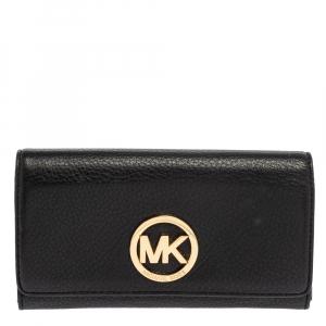 Michael Kors Black Leather Fulton Wallet