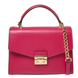 Michael Kors Pink Leather Sloan Top Handle Bag