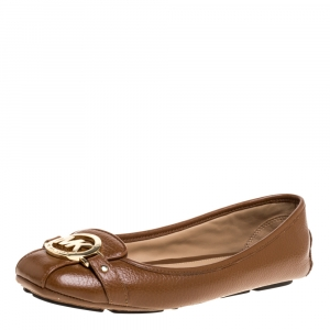 Michael Kors Brown Leather Ballet Flats Size 39