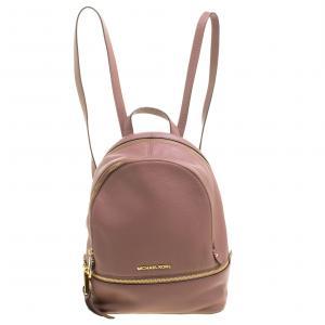 Michael Kors Beige Leather Rhea Backpack
