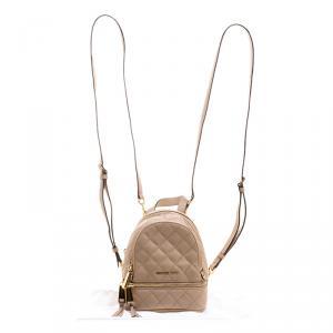 Michael Kors Beige Leather Mini Rhea Backpack