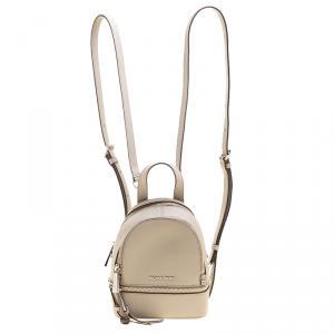 Michael Kors Grey Leather Rhea Mini Backpack