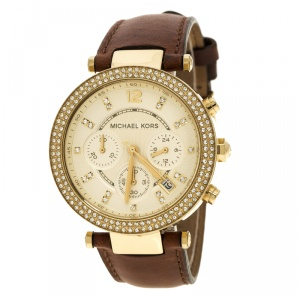 Michael Kors Gold Tone Parker Chronograph MK2249 Women's Wristwatch 39 mm
