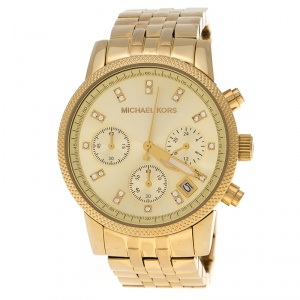 Michael Kors Gold Plated Stainless Steel Ritz MK5676 Women's Wristwatch 36 mm
