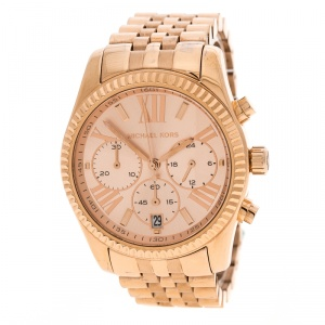 Michael Kors Rose Gold Plated Steel Lexington MK5569 Women's Wristwatch 38 mm