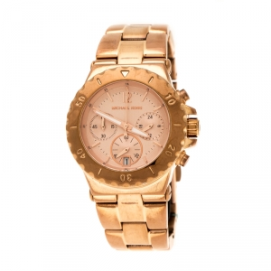 Michael Kors Rose Gold Plated Stainless Steel Dylan Chronograph MK5499 Women's Wristwatch 33 mm