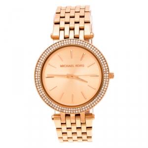 Michael Kors Rose Gold Plated Stainless Steel Darci MK3192 Women's Wristwatch 39 mm