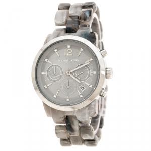 Michael Kors Grey Acetate Stainless Steel Audrina MK6310 Women's Wristwatch 41 mm