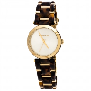 Michael Kors Gold Plated Stainless Steel Delray MK4314 Women's Wristwatch 36MM