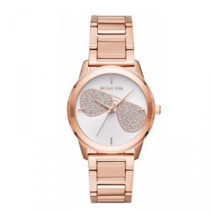 Michael Kors Silver Rose Gold Diamond and Stainless Steel Hartman Women's Wristwatch 38MM
