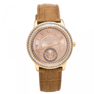 Michael Kors Rose Gold PVD Coated Stainless Steel Madelyn MK2448 Women's Wristwatch 40 mm