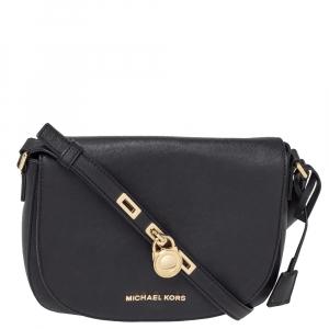 MICHAEL Michael Kors Black Leather Hamilton Messenger Bag
