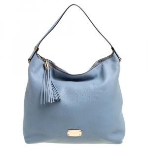 MICHAEL Michael Kors Blue Grained Leather Hobo