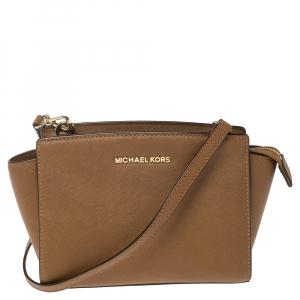 MICHAEL Michael Kors Tan Leather Medium Selma Crossbody Bag