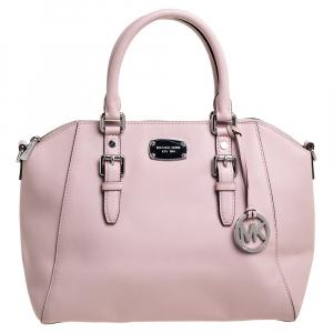Michael Michael Kors Powder Pink Leather Large Ciara Satchel
