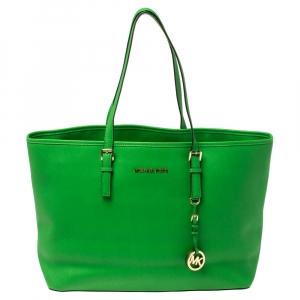 حقيبة يد مايكل مايكل كورس جت ست جلد سافيانو خضراء