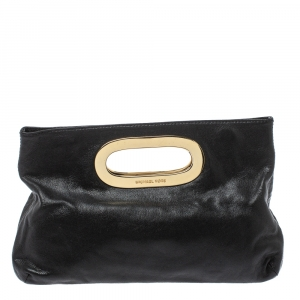 MICHAEL Michael Kors Black Leather Berkley Clutch