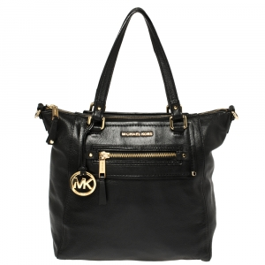 Michael Michael Kors Black Leather Gilmore North South Shoulder Bag