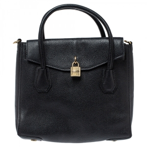 MICHAEL Michael Kors Black Leather Large Mercer All In One Tote