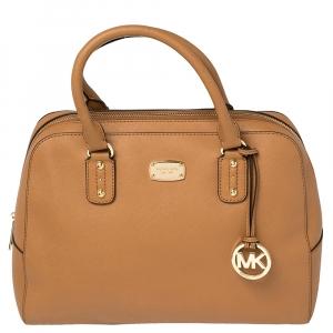 MICHAEL Michael Kors Brown Leather Large Sandrine Satchel