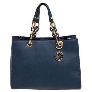 حقيبة مايكل مايكل كورس سينثيا جلد أزرق كحلي سافيانو متوسطة