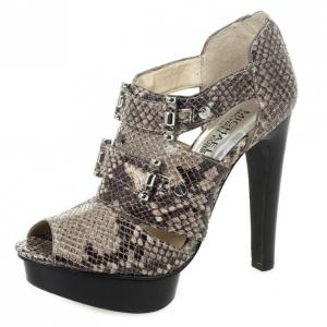 MICHAEL Michael Kors Snakeskin Gibson Platform Sandals Size 36.5