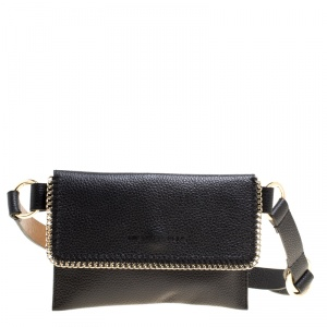 Michael Michael Kors Black Leather Belt Bag