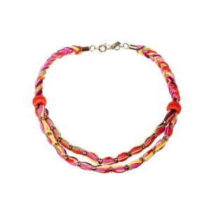 Missoni Multicolor Double Rope Braided Necklace