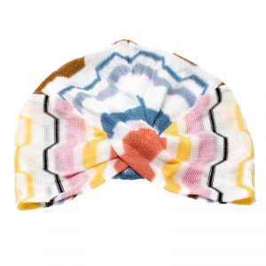 Missoni Multicolor Zig Zag Pattern Knit Turban M