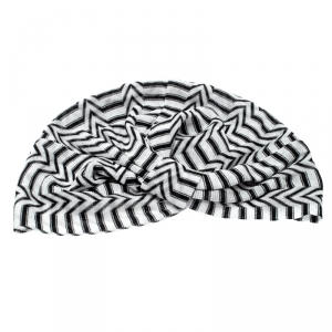 Missoni Mare Monochrome Zig Zag Pattern Knit Beach Turban