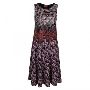 Missoni Multicolor Patterned Lurex Jacquard Knit Sleeveless A Line Dress M used