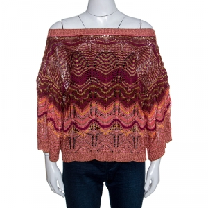 Missoni Metallic Crochet Top M