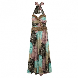 Missoni Silk Multicolor Beaded Detail Dress XS