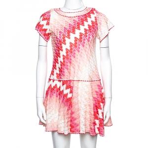 Missoni Pink Patterned Knit Skater Dress L used
