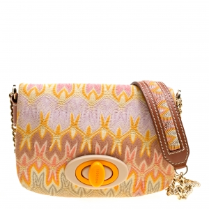 Missoni Multicolor Woven Fabric Shoulder Bag