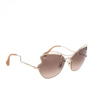 Miu Miu Gold/Brown SMU 56R Butterfly Sunglasses