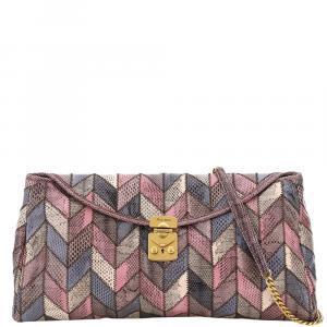 Miu Miu Multicolor Ayers Patchwork Clutch Bag